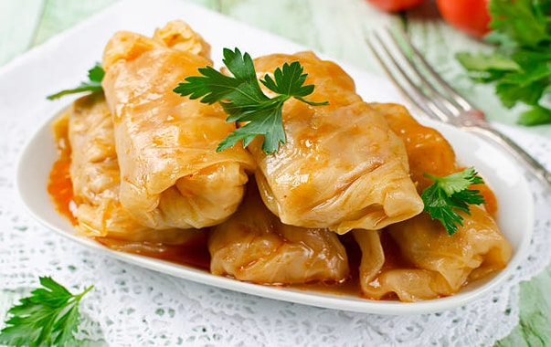 Holubtsi (Stuffed Cabbage Rolls)