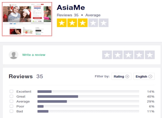 Asiame reviews